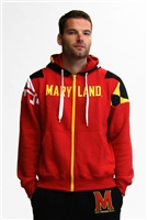 Maryland Terrapins NCAA Men's Full Zip-Up Hoodie Jacket